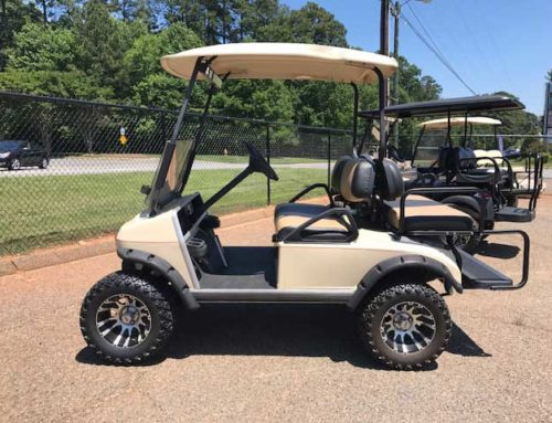 2003 Club Car DS 4 passenger, gas, lifted, premium wheels and tires, great condition, $4000.